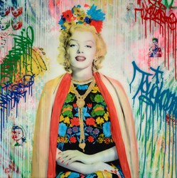 Marilyn by Srinjoy - Mixed Media sized 36x36 inches. Available from Whitewall Galleries